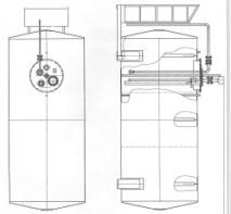 Резервуар с колонкой