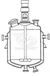 Реакторы цельносварные с пропеллерными или турбинными мешалками и нижними спусками продукта