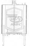 Резервуар вертикальный с паровым и электрическим нагревом РВППЭ - 0,3